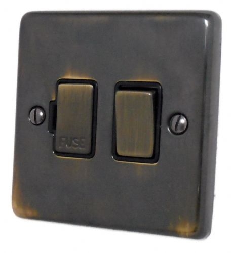 G&H CAN357 Standard Plate Polished Aged Brass 1 Gang Fused Spur 13A Switched
